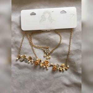 Accessories - Gold Floral Head Chain